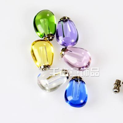 新款精品小水晶瓶 带内孔做胎毛挂件万博max手机登录 大米万博manbetx苹果APP异形小水滴米雕