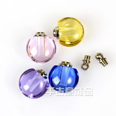 大米万博manbetx苹果APP 小水晶瓶带内孔可做精油香水瓶万博max手机登录 迷你小苹果米雕瓶