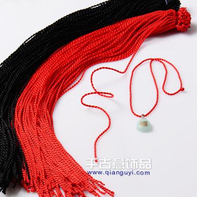 直扣手搓红色麻花项链绳 本命年手工编织项链红绳 100根不拆开