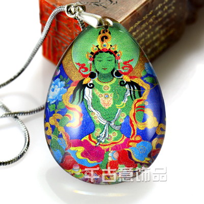 佛教项链定做 万博max手机登录定制 佛像定做 佛教用品厂家批发 绿度母